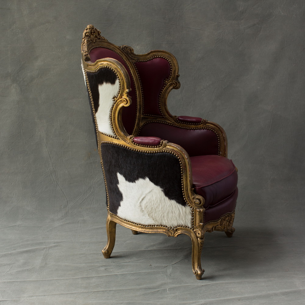Pair of French Louis XV Style Wing Chairs (2) « The Hudson